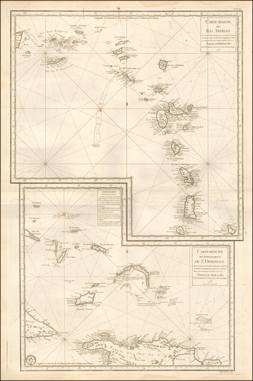 79-Caribbean and Bahamas Map By Depot de la Marine