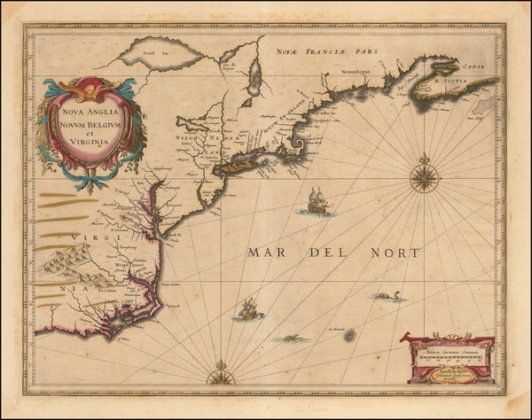 77-New England, New York State and Mid-Atlantic Map By Jan Jansson