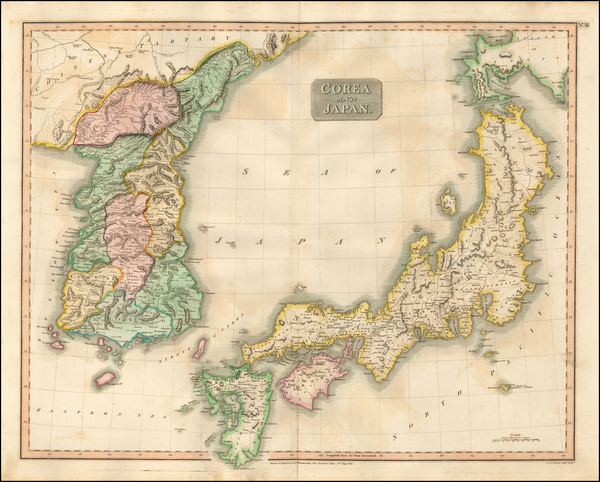 Japan and Korea Map By John Thomson