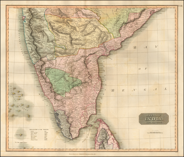 47-India Map By John Thomson