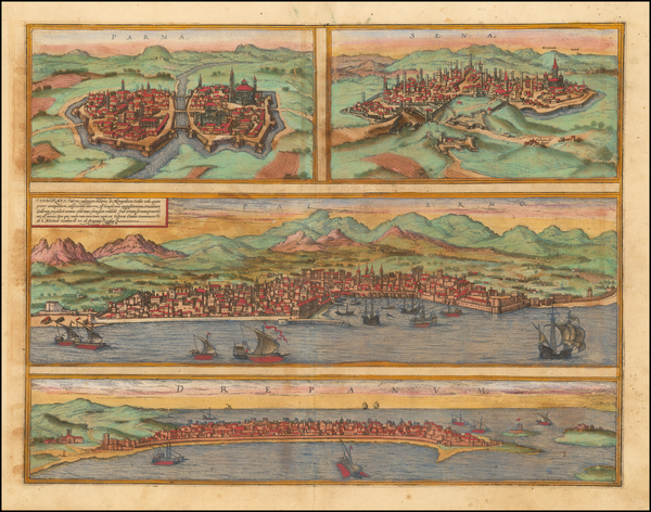 85-Other Italian Cities Map By Georg Braun  &  Frans Hogenberg