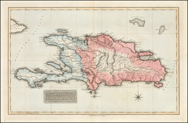 69-Hispaniola Map By Fielding Lucas Jr.