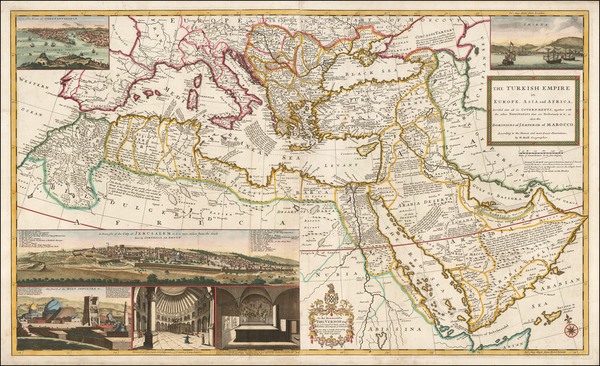 Turkey, Mediterranean, Middle East and Turkey & Asia Minor Map By Herman Moll