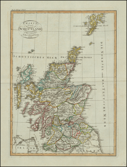 38-Scotland Map By Weimar Geographische Institut