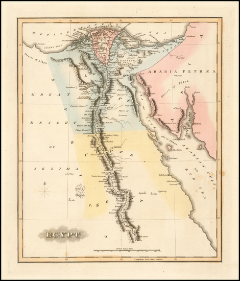Egypt Map By Fielding Lucas Jr.