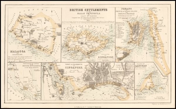 17-Southeast Asia and Singapore Map By Archibald Fullarton & Co.