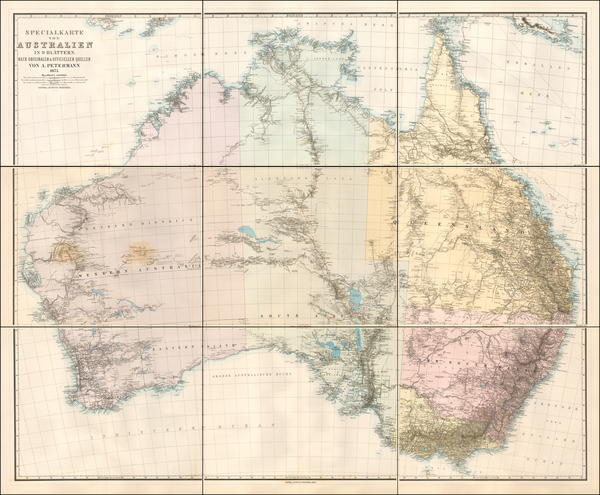 56-Australia Map By Augustus Herman Petermann