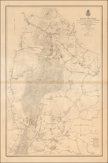 38-Maryland and Civil War Map By United States Bureau of Topographical Engineers