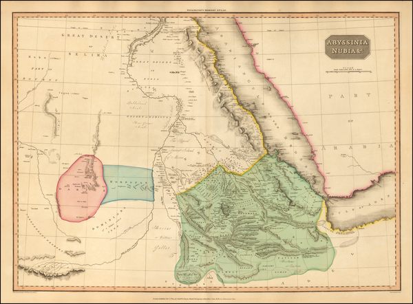28-Middle East, North Africa and East Africa Map By John Pinkerton