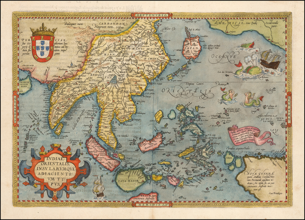 94-Southeast Asia, Philippines, Australia and Oceania Map By Abraham Ortelius