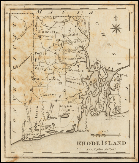 54-Rhode Island Map By Joseph Scott