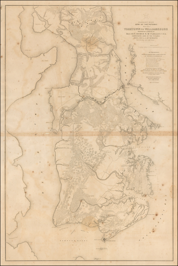 20-Virginia Map By United States Bureau of Topographical Engineers