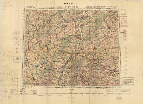 62-France and Germany Map By Geographical Section, War Office (UK)