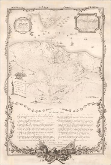 59-Southeast and Virginia Map By Henry Schenk Tanner / Sebastian Bauman / J.F. Renault