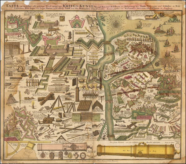 34-Curiosities Map By Matthaus Seutter