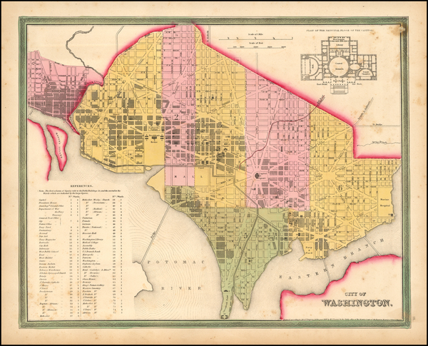 92-Washington, D.C. Map By Henry Schenk Tanner
