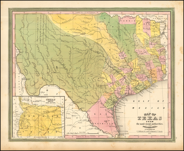 69-Texas Map By Henry Schenk Tanner