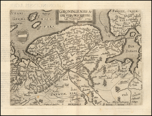 68-Netherlands Map By Matthias Quad / Johann Bussemachaer