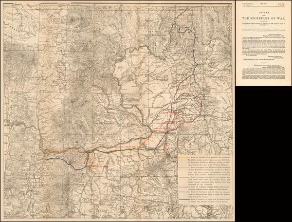 60-Washington Map By United States War Dept.