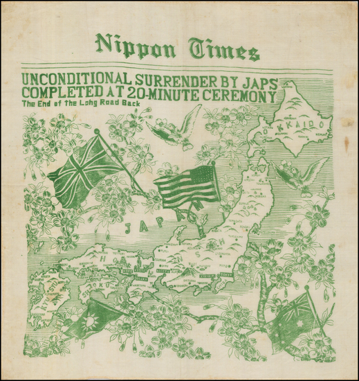 12-Japan, Curiosities and World War II Map By