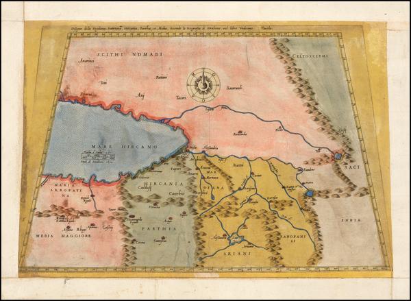 90-Persia Map By Giacomo Gastaldi