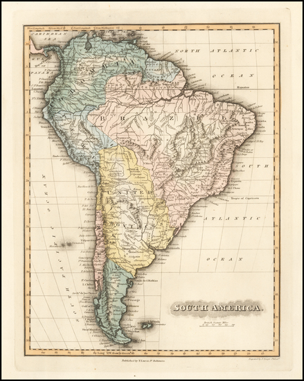 45-South America Map By Fielding Lucas Jr.