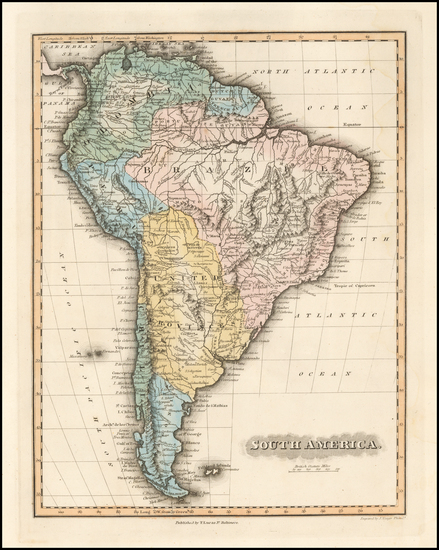 21-South America Map By Fielding Lucas Jr.