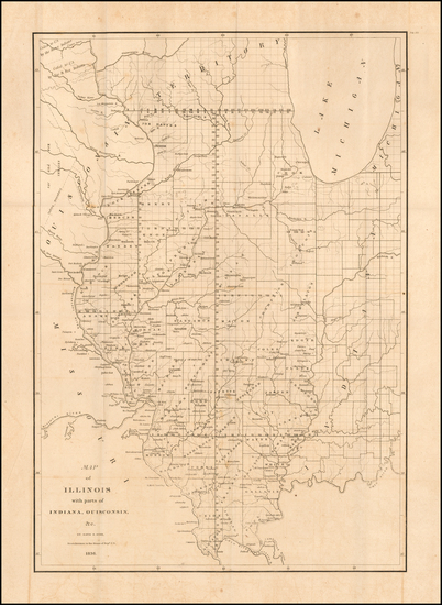 72-Illinois and Iowa Map By David Hugh Burr