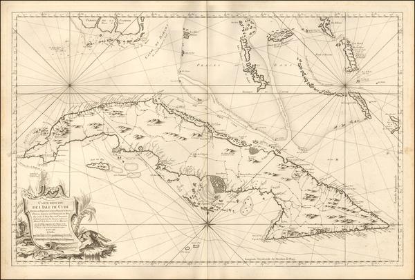 57-Cuba Map By Jacques Nicolas Bellin