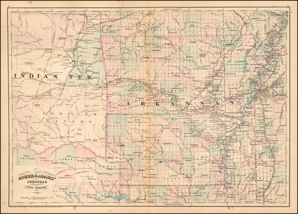 68-South, Arkansas and Plains Map By Asher / Adams