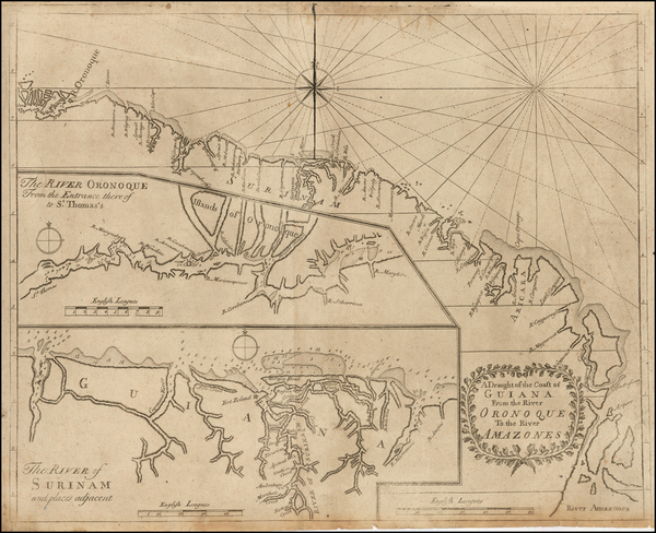 21-Guianas & Suriname and Venezuela Map By Hugh Boulter Grierson