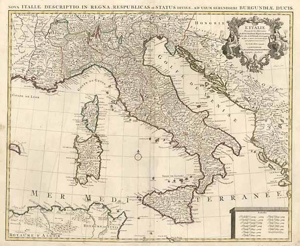 40-Europe and Italy Map By Johannes Covens  &  Cornelis Mortier