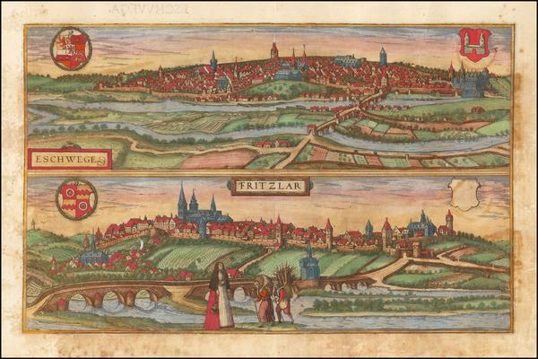 65-Germany Map By Georg Braun  &  Frans Hogenberg