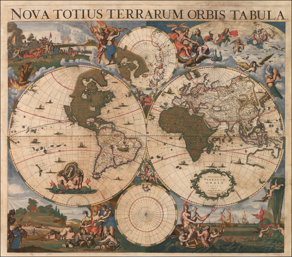 38-World Map By Frederick De Wit / Cornelis II Danckerts