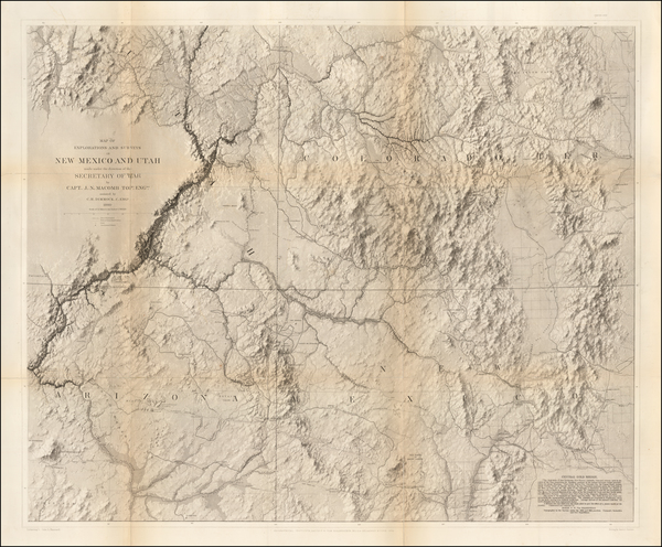 10-Southwest, Arizona, Colorado, Utah, New Mexico, Rocky Mountains, Colorado and Utah Map By John