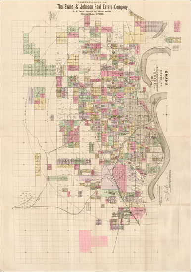 15-Nebraska Map By Everts & Kirk