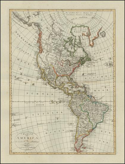 47-America Map By Weimar Geographische Institut