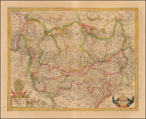81-Germany Map By Henricus Hondius /  Gerard Mercator