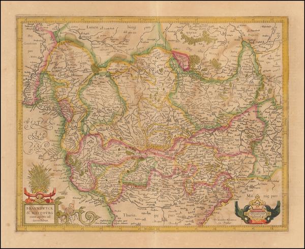 88-Germany Map By Henricus Hondius /  Gerard Mercator