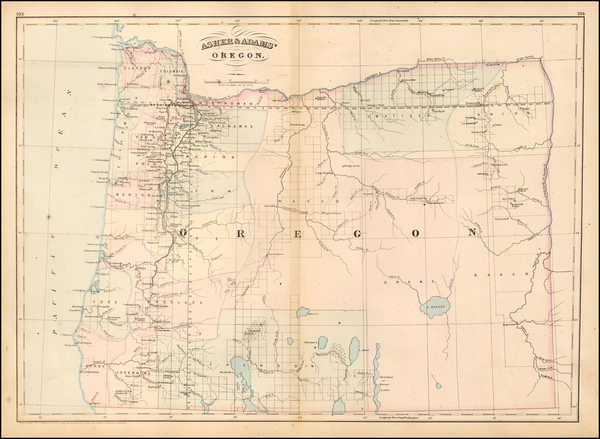 14-Oregon Map By Asher  &  Adams