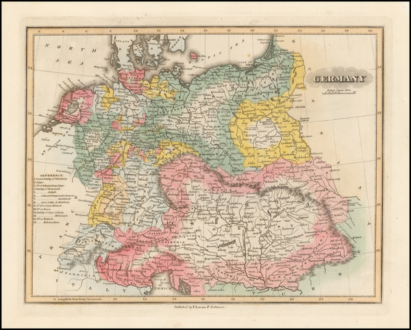 94-Germany and Austria Map By Fielding Lucas Jr.