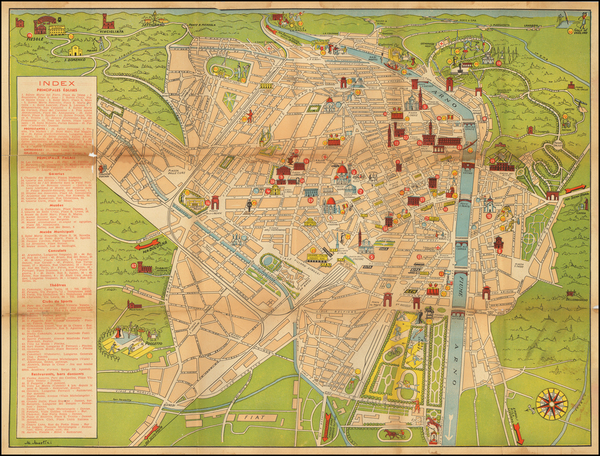 23-Other Italian Cities and Pictorial Maps Map By Anonymous