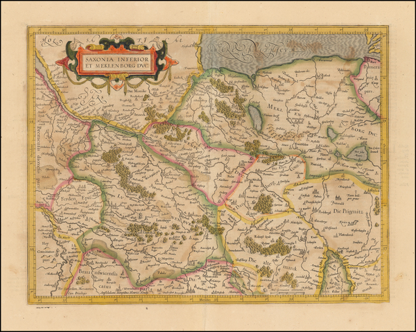 48-Germany Map By  Gerard Mercator