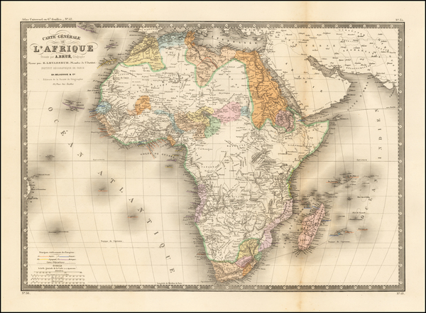 Africa Map By Adrien-Hubert Brué