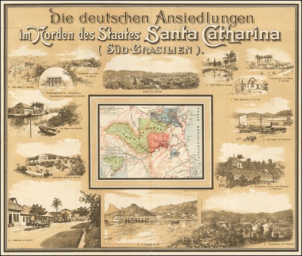 56-Brazil Map By Muhlmeister & Johler