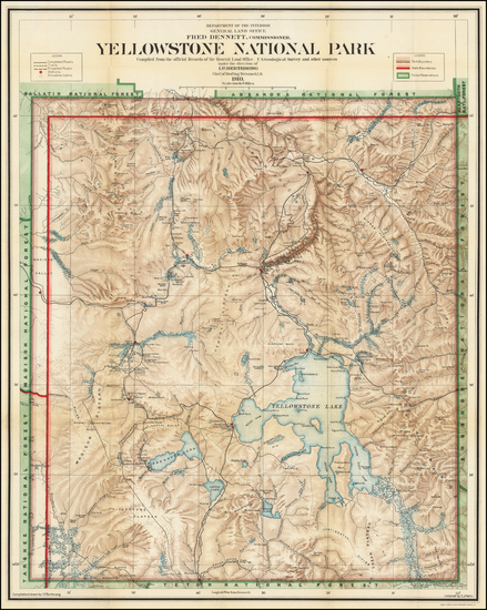39-Wyoming Map By General Land Office