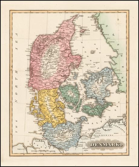 44-Denmark Map By Fielding Lucas Jr.