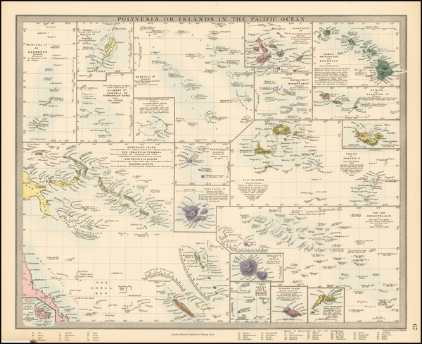 83-Hawaii, Pacific, Oceania, Hawaii and Other Pacific Islands Map By SDUK