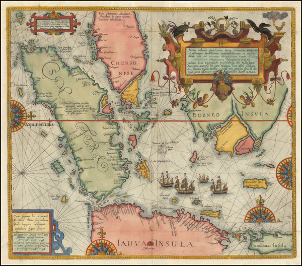 41-Singapore, Indonesia, Malaysia and Other Islands Map By Theodor De Bry
