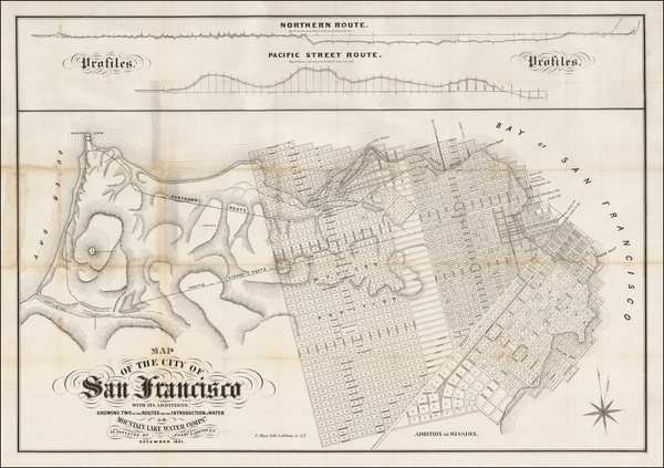 66-San Francisco & Bay Area Map By Henry  S. Dexter